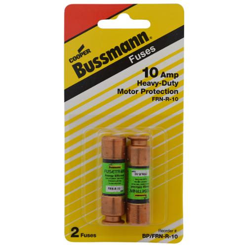 Bussman  BP/FR1-R-10 10 Amp Heavy-Duty Motor Protection Fuse 2-count