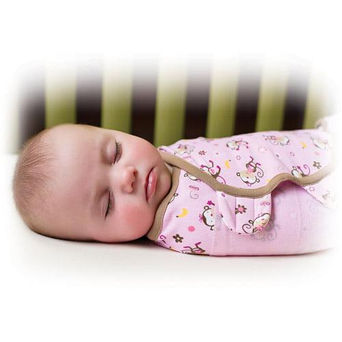 Summer Infant SwaddleMe Swaddling Blanket, Jungle Hunnies, Large