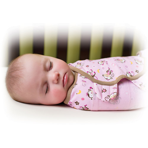 Summer Infant SwaddleMe Swaddling Blanket, Jungle Hunnies, Large