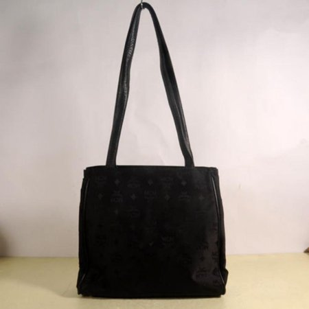 - Monogram Jacquard Visetos Shopper Tote 869324 Black Canvas Shoulder Bag