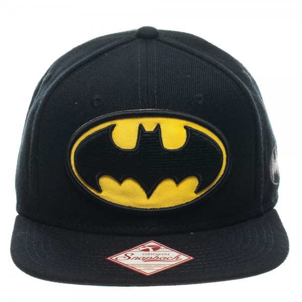 Baseball Cap Batman Logo Black Snapback Hat New sb089cbtm by BioWorld