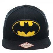 Baseball Cap Batman Logo Black Snapback Hat New sb089cbtm by BioWorld