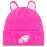 Philadelphia Eagles New Era Girls Toddler Cozy Cutie Cuffed Knit Hat - Pink - OSFA