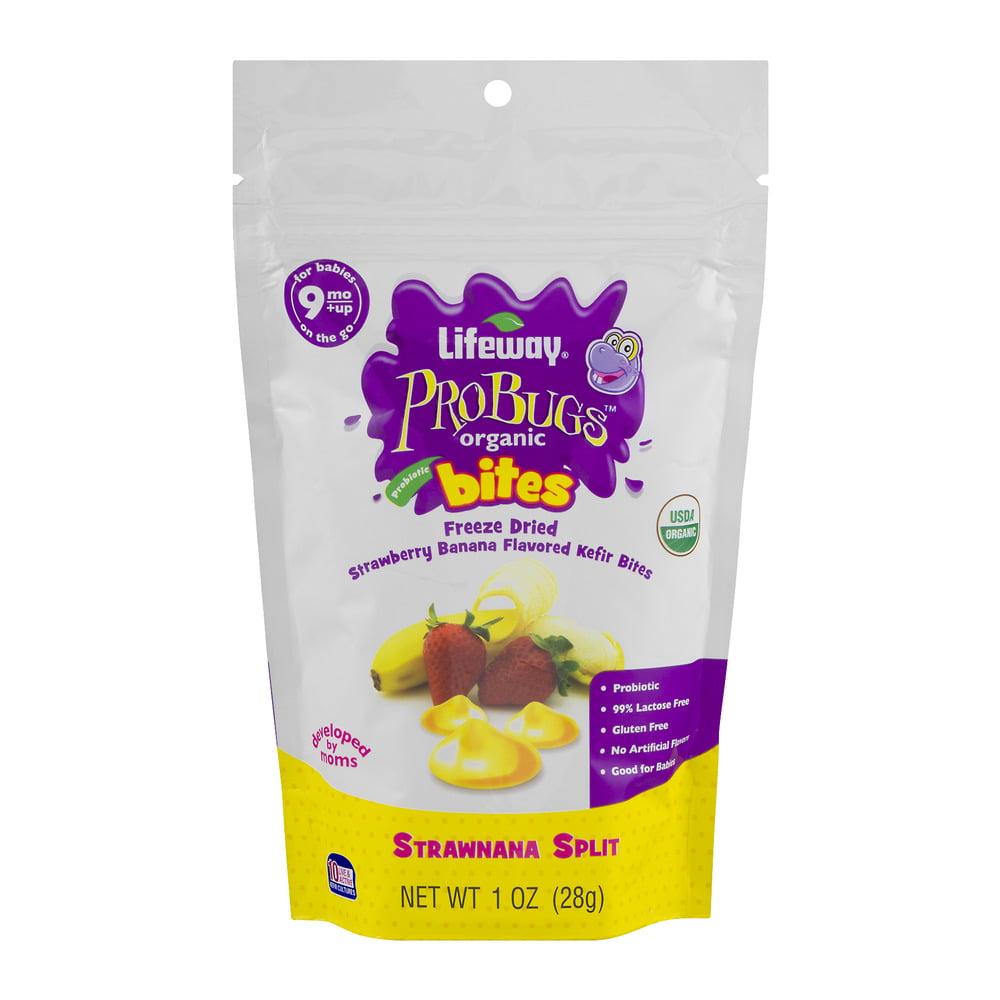Lifeway ProBugs Organic Bites Freeze Dried Strawnana Spli...