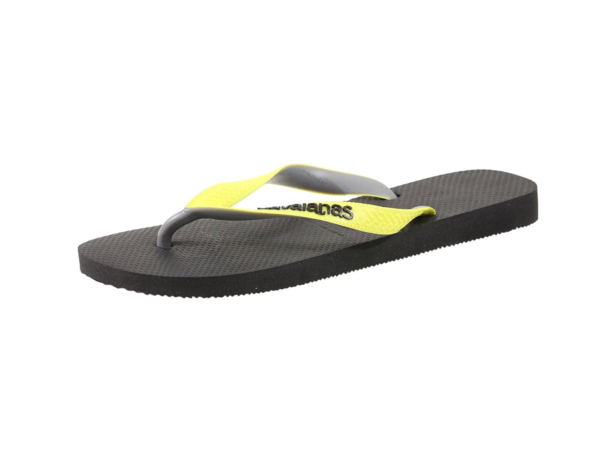 00ca72031b1 Havaianas Women s Top Mix Sandal Black Neon Yellow