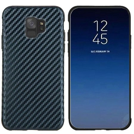 wholesale dealer 305c6 f6a7b Samsung Galaxy S9 Case, by Insten Carbon Fiber Rubber TPU Skin Case Cover  For Samsung Galaxy S9, Black