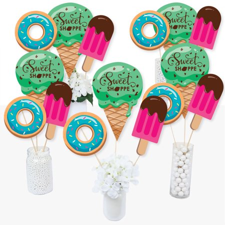 Themes For Sweet 15 (Sweet Shoppe - Candy and Bakery Birthday Party or Baby Shower Centerpiece Sticks - Table Toppers - Set of)