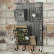 Wildon Home 13.75'' x 23'' x 3.75'' Metal Wall Organizer