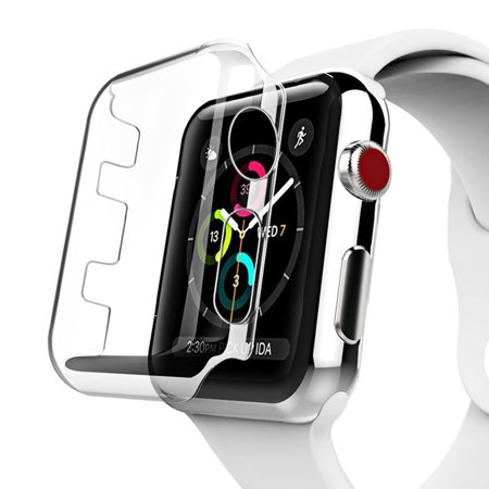 Insten Full Cover Protector Crystal Clear Snap On Cover Case Perfect Fit For Apple Watch Series 3 38mm, Clear (Anti-Scratch)(Shock Absorption)(Fingerprint-proof)