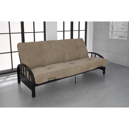 Dhp Aiden Black Metal Futon Frame With Coil Full Mattress Multiple Colors And Sizes Com