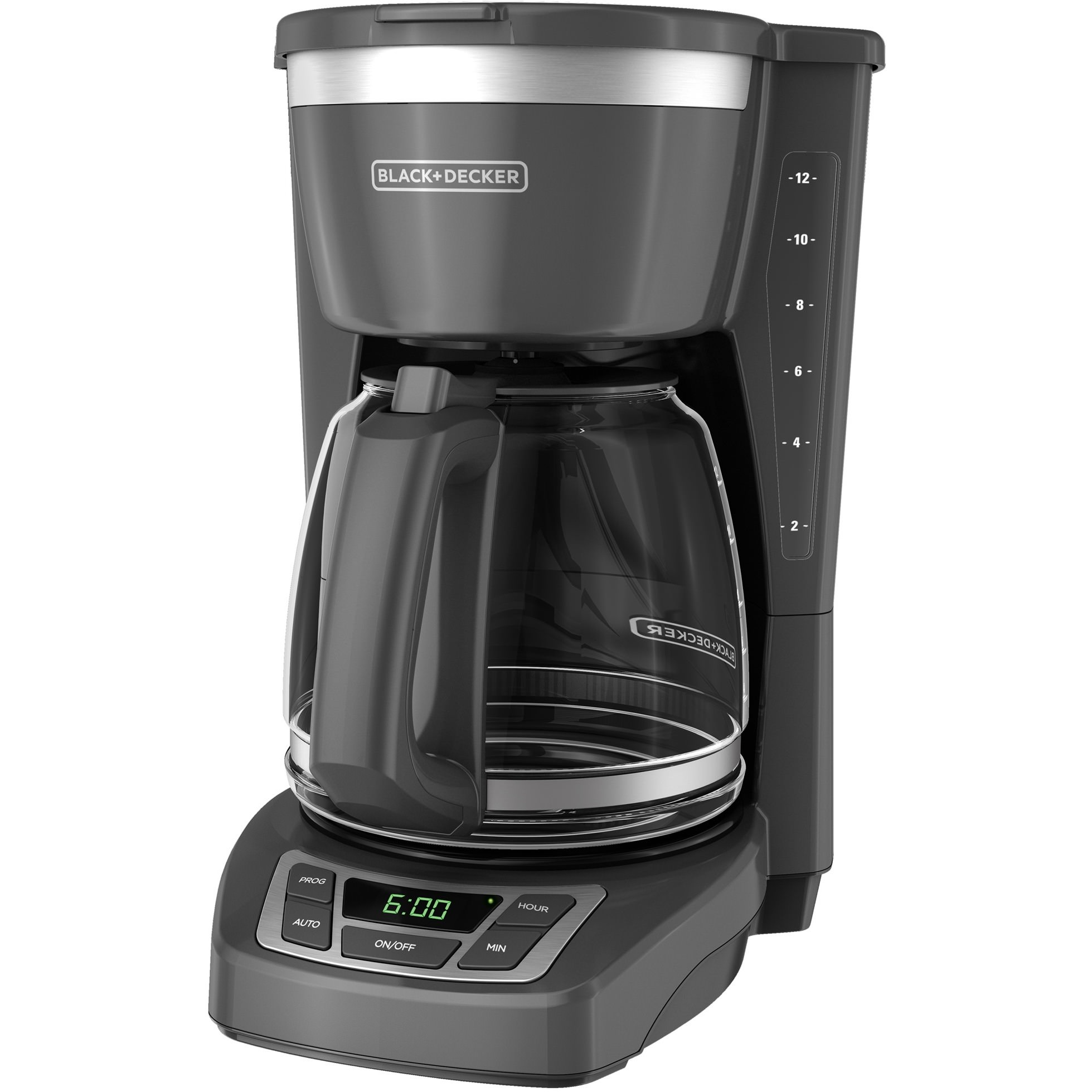12 Cup Programmable Coffee Maker Gray