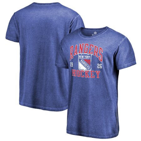 watch 8fbfa cc5ec New York Rangers Fanatics Branded Vintage Collection Old Favorite Shadow  Washed T-Shirt - Royal
