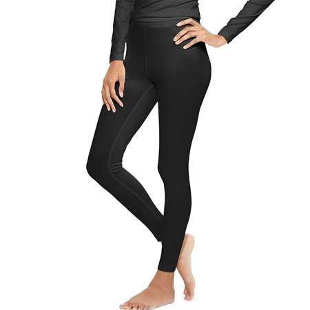 Hanes KMC4 Duofold Varitherm Mid-Weight Womens Base-Layer Thermal Bottoms Size Extra Large, Black
