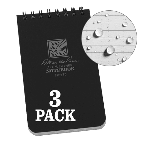 Rite in the Rain Weatherproof Top Spiral Notebook, 3