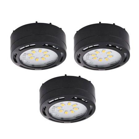 Amax Lighting LEDPL3 120V LED Under Cabinet Puck Light (3-Pack) - Amax Lighting LEDPL3 120V LED Under Cabinet Puck Light (3-Pack