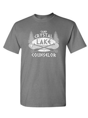 7030e5ff Product Image CAMP CRYSTAL LAKE - horror jason hockey - Cotton Unisex T- Shirt