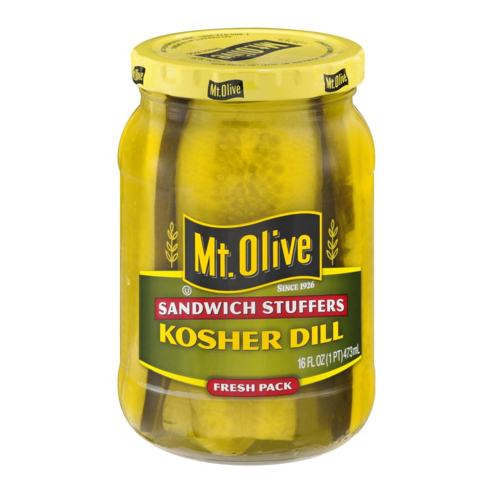 Mt. Olive Kosher Dill Sandwich Stuffers Fresh Pack Pickles 16 fl. oz. Jar by Mt Olive Pickles