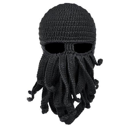 06c00b34eea VBIGER Beard Hat Beanie Hat Knit Hat Winter Warm Octopus Hat Windproof  Funny for Men   Women