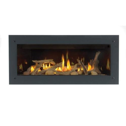 4 Sided Fireplace Surround With Safety Screen Painted Gloss Black