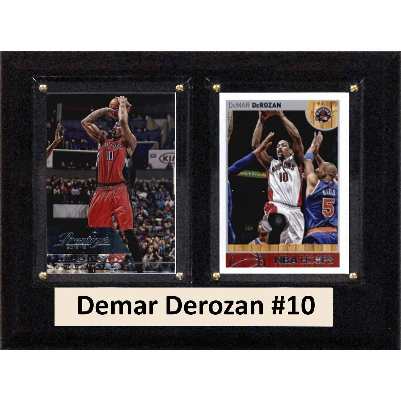 """C & I Collectables NBA 6"""" x 8"""" Demar Derozan Toronto Raptors Two-Card Plaque"""