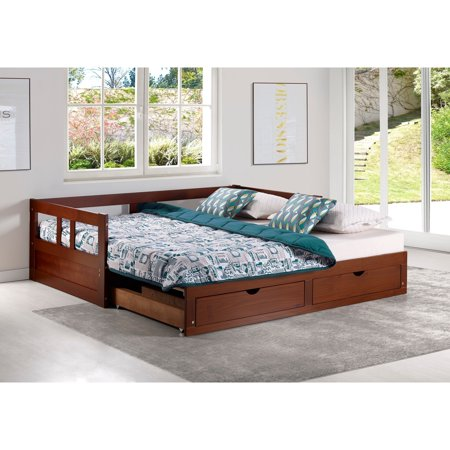 Alaterre Melody Day Bed Storage Chestnut