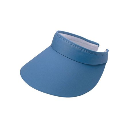 ATHLETIC LARGE PEAK TWILL CLIP-ON VISOR Cotton Twill Long Visor