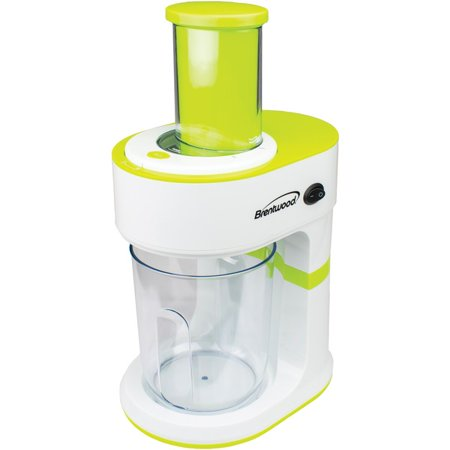Brentwood® Appliances 5-cup Electric Vegetable Spiralizer & Slicer Brentwood Appliances FP-560G 5-Cup Electric Vegetable Spiralizer & Slicer ; 800W; 5-cup Work Bowl; Dishwasher-safe (top Rack) Removable Parts; BPA-free; Simple On/off Switch; Safety Lock Chute; Nonslip Base; Convenient Cord Wrap; 1-year Limited Warranty; Includes 4 Interchangeable Blades; This brentwood appliances 5-cup electric vegetable spiralizer & slicer is a high quality other kitchen appliances item from our housewares & personal care , kitchen appliances & accessories , small appliances & accessories , other kitchen appliances collections .