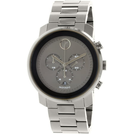 437968e3f Movado - Men's Bold 3600277 Gunmetal Stainless-Steel Swiss Quartz Watch -  Walmart.com