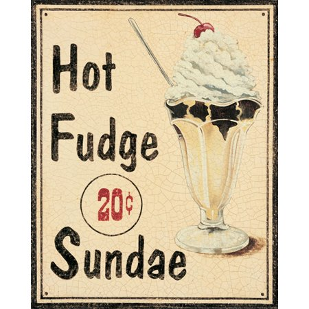 Malt Shop II Ice Cream Cafe Ad Classy Pop Fifties Sign Popular Cream Bed Room Decoration 11X14 - Fifties Theme