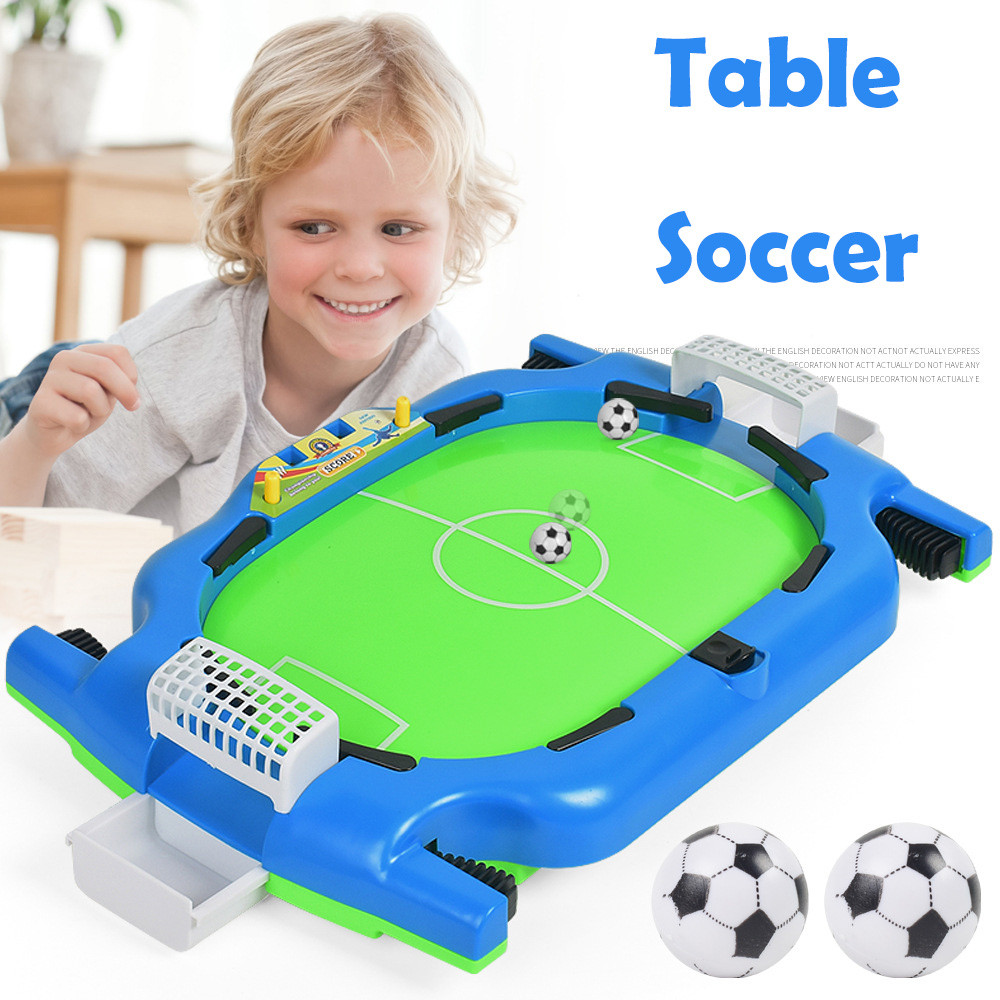 Womail Kids Adults Table Soccer Mini Interactive Toy Hoop Net Ball Pump Play Set by