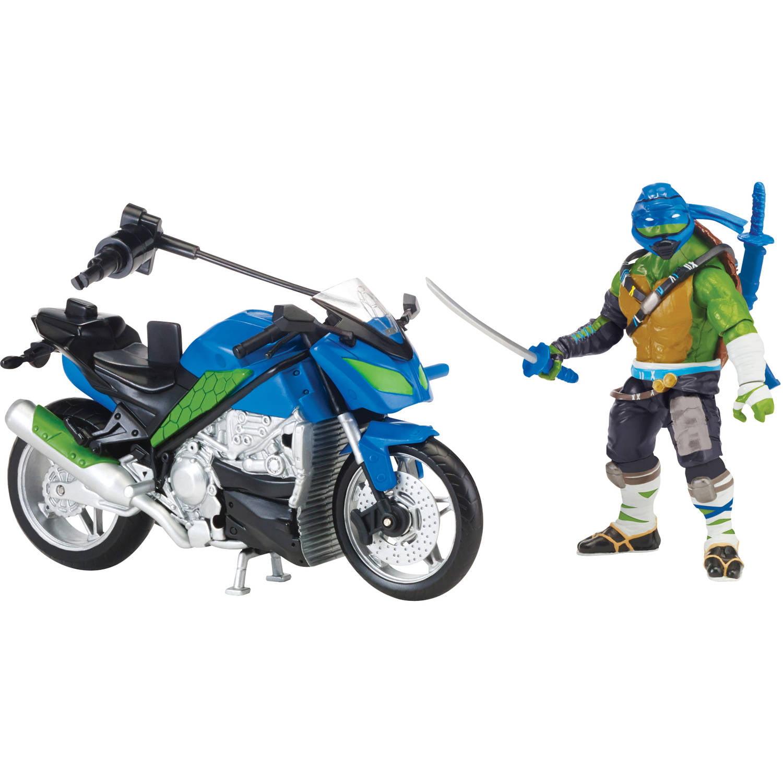 Teenage Mutant Ninja Turtles Movie II Leonardo with Motorcycle