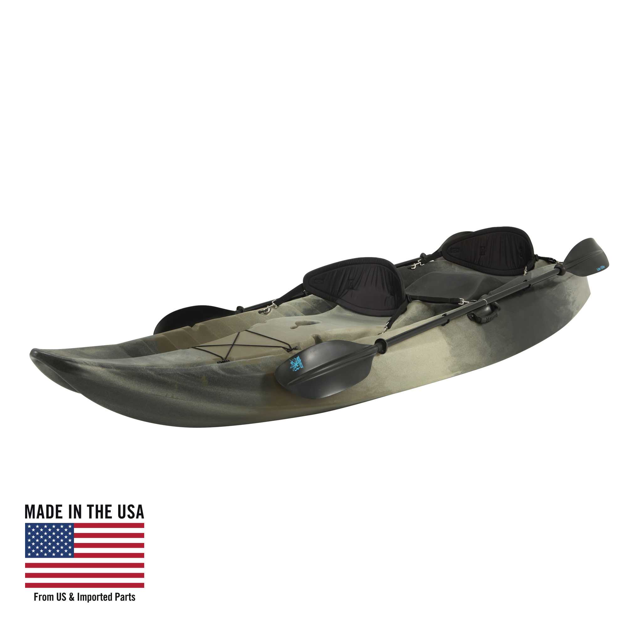 Lifetime Sport Fisher Angler 100 Kayak (with Paddles) Camouflage, 90157