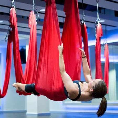 Nylon Yoga Hammock Sling Inversion Anti-gravity Swing Trapeze Flying 900 kg Large Bearing Beauty Fitness Sporting Training Exercise Accessory
