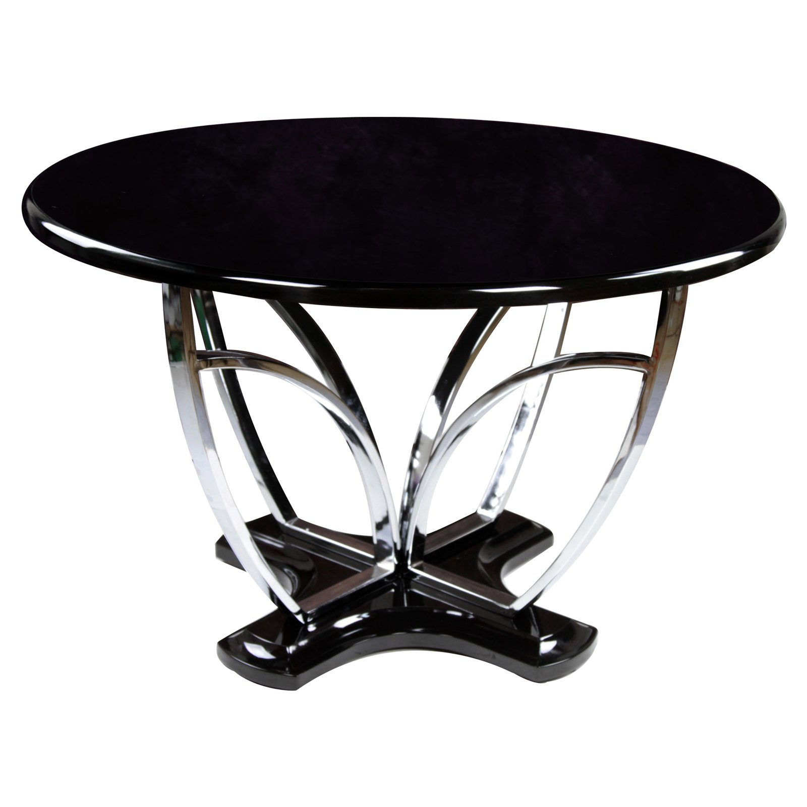 Furniture of America Black Domita 48 in. Round Dining Table by Enitial Lab