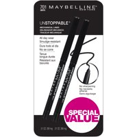 Maybelline Unstoppable Mechanical Eyeliner, Onyx, 2 Pack, ONLY AT WALMART