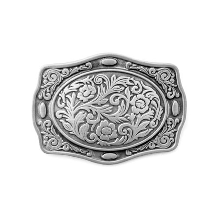 Western Themed Floral Belt Buckle ()