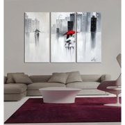 The Lighting Store Hand-painted 'The Touch of Love' Gallery-wrapped Canvas Art Set