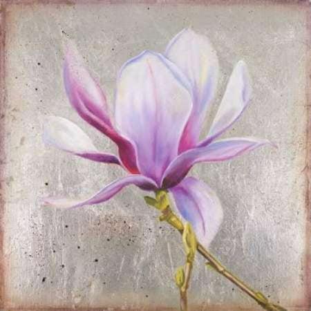 - Posterazzi Magnolia on Silver Leaf II Canvas Art - Patricia Pinto (24 x 24)