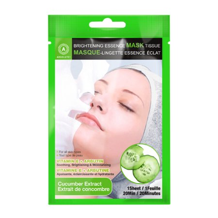 ABSOLUTE Brightening Essence Mask - Cucumber (12 Pack) - image 1 of 1
