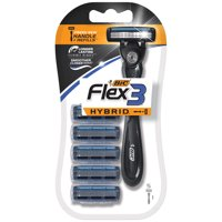 BIC Flex 3 Hybrid Men's Disposable Razor, 1 Handle, 5 Cartridges