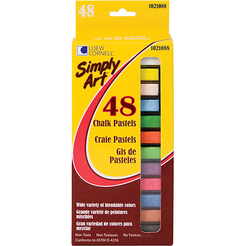 Simply Art Chalk Pastels, 48-Pack