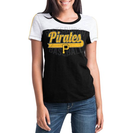 Mlb Pittsburgh Pirates Women S Short Sleeve Team Color Graphic Tee