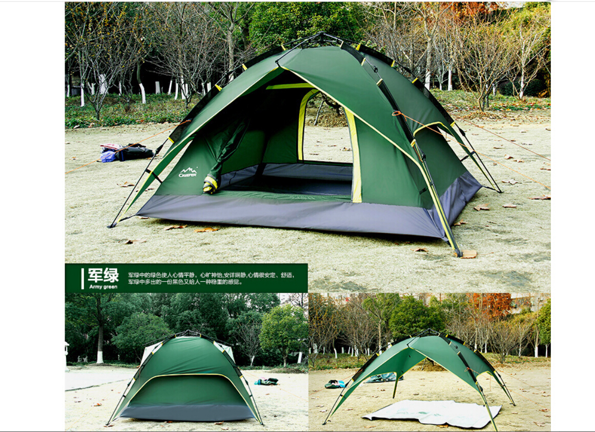 Family Tent 4-5 Person Outdoor Camping Hiking Tent Double ...
