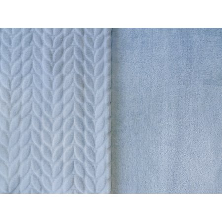 RTC Fabric Cloud 100% Polyester Squiggly Minky Fleece, Blanket Fabric, Apparel Fabric, Nurcery Fabric, 60'', 245Gsm