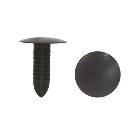 - 40Pcs Black Plastic Rivet Door Trim Panel Hood Moulding Clips 5 x 5mm for Car