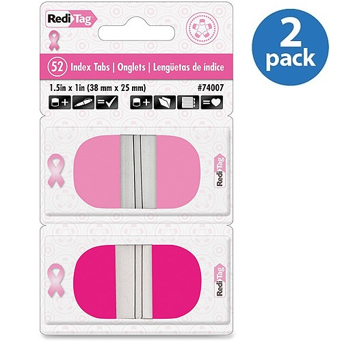 Redi-Tag Pink BCA Round Pop-Up Index Tabs
