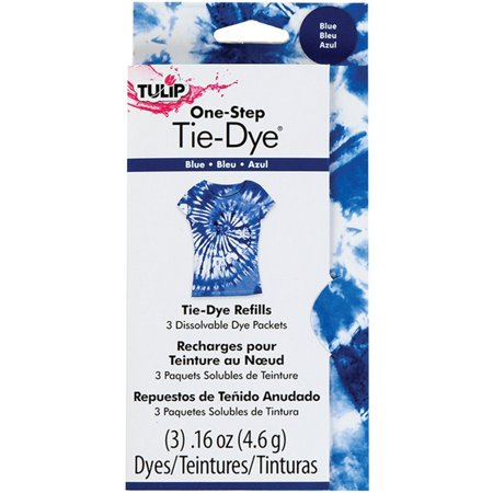 One-Step Dye Refills Blue, Wearing rubber gloves, place the refill packet into your already-used Tulip One-Step Dye bottle, add water filling to line and replace cap tightly Ship from US Bottle Glove Tank Cover