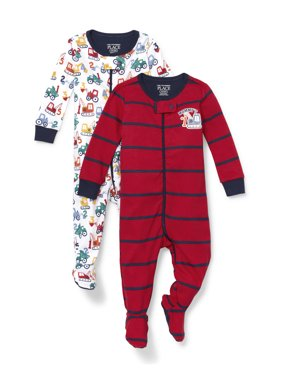 The Children's Place Long Sleeve 2 Piece Stretchie Set (Baby Boys & Toddler Boys, 3M, 6M, 9M, 12M, 18M, 24M, 2T, 3T, 4T, 5T)