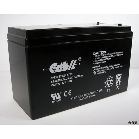 1 PACK 12V 7AH CA1270 FIRST ALERT ADT ALARM BATTERY, Authentic Genuine Casil SLA Battery By Casil From USA