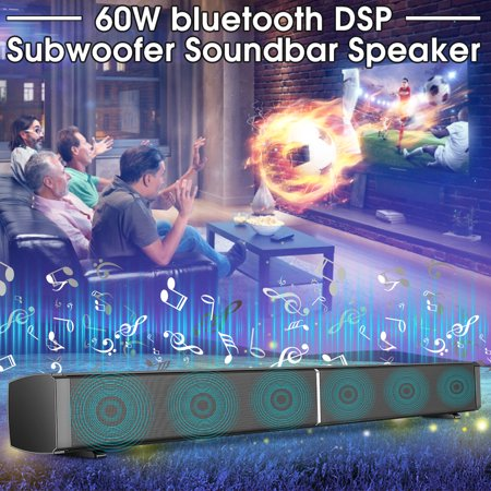 32 inch 60W Soundbar With DSP Clock Sound Effect 360° 3D Surround bluetooth Sound bar TV Wireless Soundbar Built-in Subwoofer Display Screen Speaker Stereo HIFI Home Theater